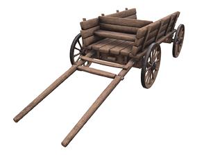 Medieval cart 3D asset realtime