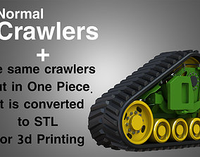 vehicle Crawler - Rubber Truck System 3D model