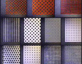 3D model Perforated panels