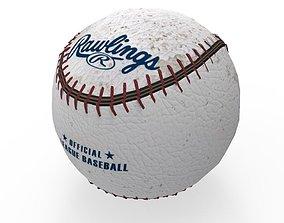 3D asset baseball
