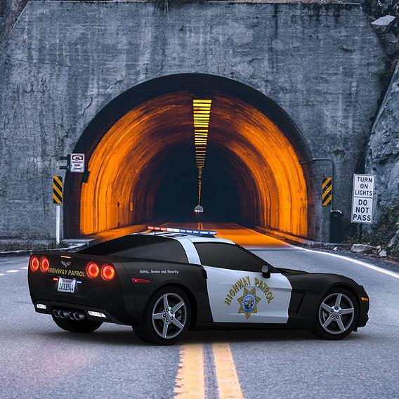 Chevrolet Corvette C6 Police car