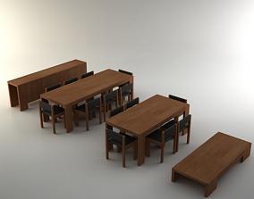 Marmol Radziner Furniture Set 3D