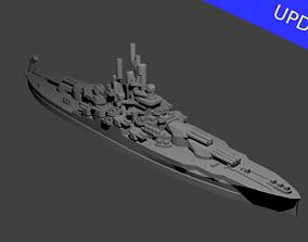US Nevada Class Battleship 3D printable model