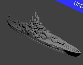 US Nevada Class Battleship 3D printable model