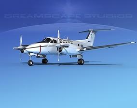 Beechcraft UC-12Q Huron V04 USAF 3D model