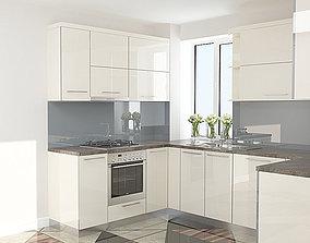 3D model Bianco Kitchen