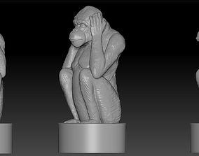 monkey 3d 3D print model