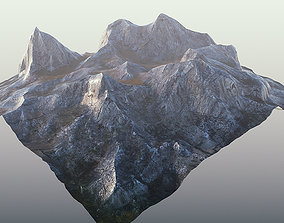 3D asset Mountain Low Poly PBR