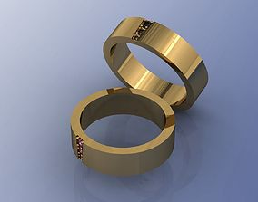 wedding rings 3dm and stl file