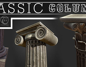 3D model low-poly Classic Columns