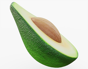 Avocado with Seed 3D model