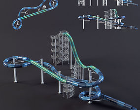 3D model water Park slides4 design