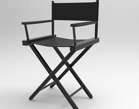 Directors Chair 3D model rigged