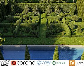 3D Boxwood Shrub collection - Include GrowFX and Mesh file