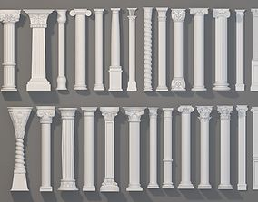 3D Columns Collection -1 - 27 pieces architectural