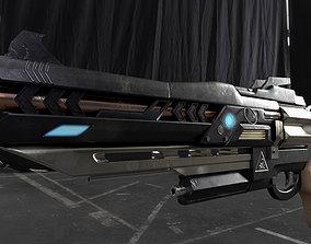 Sci-fi gun 3D military