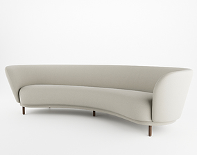 curved Dandy 4 Seater Sofa By Massproductions 3D