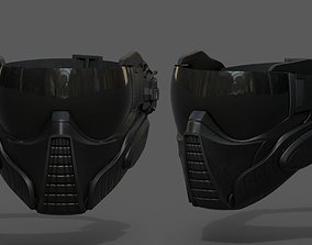 3D model Scifi mask helmet futuristic technology space 1