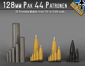 128mm Pak 44 - KwK 44 Patronen --- 1-4 to 1-48 scale 1