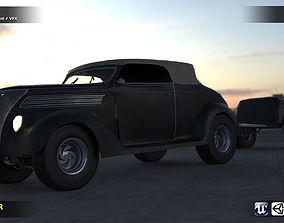 3D asset FORD Old Car