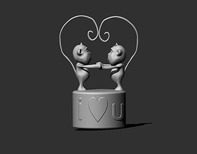 3D printable model Monkey Love valentines