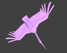 low-poly lowpoly egret models