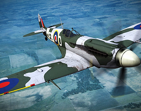 SUPERMARINE SPITFIRE MK XII 41st Squadron 3D rigged