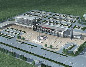 3D model Station Building plaza