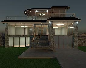 Luxury open plan house 3D
