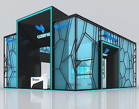 3D Exhibition Booth Stand Stall 10x8m Height 500 cm 4 Side