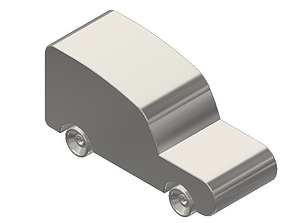 3D printable model Titanium Toy Car