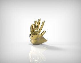 Jewelry Making Golden Part Hand Shape 3D printable model