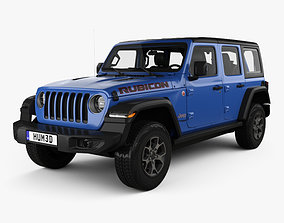 3D model Jeep Wrangler 4-door Unlimited Rubicon with HQ 1