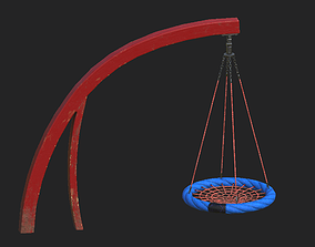 3D asset Playground Cantilever Swing