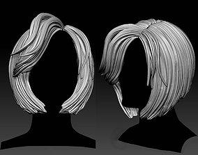 Haircut sculpt female face 3d model anatomy