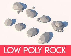 Low Poly Rock Vol1 3D model