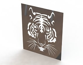 Tiger picture 3D print model