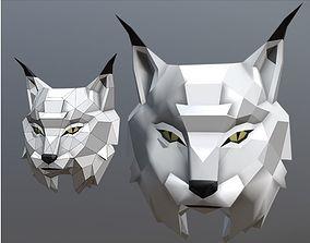 Trophy head Lynx 3D printable model
