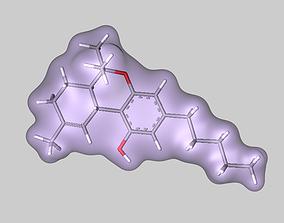 3D model THC Tetrahydrocannabinol molecule