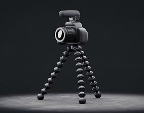 3D model Simple Camera with Gorilla-Pod and Mic -