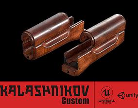 3D asset AK - Handguard - AK74 Wood Std