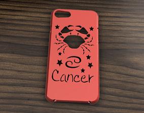 3D model CARCASA IPHONE 7-8 CANCER SIGN