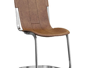 Restoration Hardware Rizzo Leather Side Chair 3D