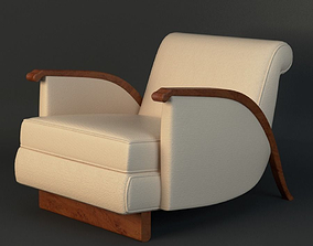 3D model Jacques Emile Ruhlmann Chair