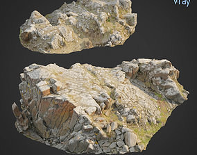 3d scanned rock cliff K2
