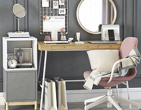 mirror 3D model LILLASEN dressing table and workplace