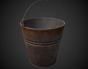 3D model Old Bucket PBR Low Poly