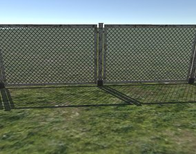 3D model game-ready Chain Link Fence
