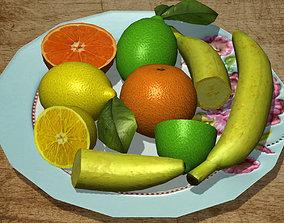 Citrus Fruits Pack 3D model