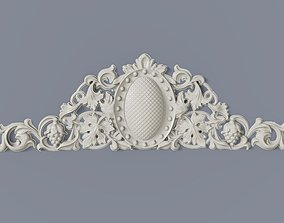 3D printable model Classic baroque cartouches element 014